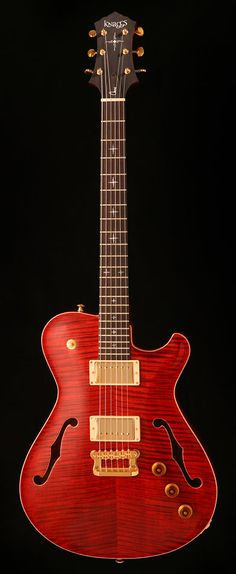 "Influence ""Chena"" (Tier 2) in Indian Red with Morning Star inlays (Photo: Larry Melton)"