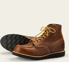 "Red Wing Heritage 8886 6"" Moc Toe Boot Copper Rough Tough Leather Made in USA #RedWing #AnkleBoots"