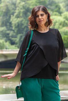 Bluza neagra din voal SNK PLUS 05 - AMA Fashion Bell Sleeves, Bell Sleeve Top, Plus Size, Tops, Women, Fashion, Moda, Women's, Fashion Styles