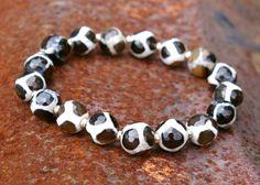 Giraffe Pattern Gemstone Bracelet #riedesigns