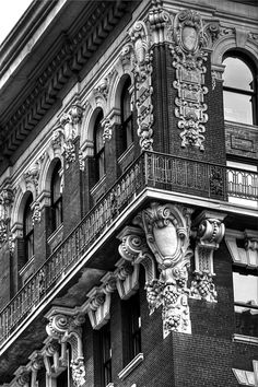 New York City black and white architectural detail.