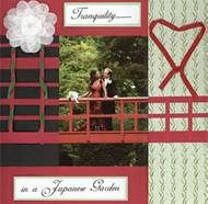 "so creative! this scrapbooker created a faux ""bridge"" across the layout to blend in with the photo :) awesome!"