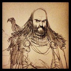 a man of the night's watch #winteriscoming #taketheblack #crow #asoiaf #baldandbearded