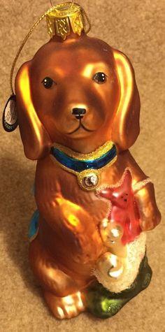Dachshund Dog Glass Christmas Ornament I need this!!!!!!!!