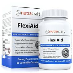 #1 Natural Joint Pain Relief Supplement and Anti Inflammatory Pills - Best Non-addictive Inflammation Supplement to Support Joint, Muscle and Nerve Pain - Contains Bromelain, Serrapeptase, Devils Claw and White Willow Bark - 60 Vegetable Gel Capsules Nutracraft http://www.amazon.com/dp/B00RQE50CQ/ref=cm_sw_r_pi_dp_M0Mwvb02W2K0V