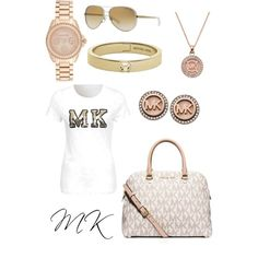 Geen titel #5 by delphine-degraeve on Polyvore featuring polyvore, mode, style, MICHAEL Michael Kors and Michael Kors