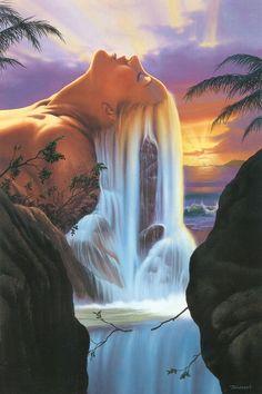 Mother Nature Island Waterfall