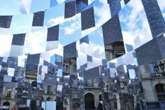 A Checkered Cylinder of Mirrors by Arnaud Lapierre
