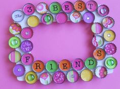 Best Friends Bottle Cap Picture Frame by PictureCaps on Etsy
