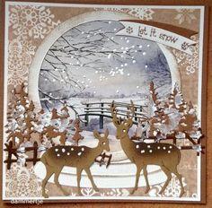 Voorbeeldkaart - Let it snow - Categorie: Kerstkaarten - Hobbyjournaal uw hobby website