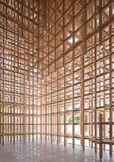 Japanese Furniture Design Kengo Kuma 19 Best Ideas - MY World Tectonic Architecture, Timber Architecture, Contemporary Architecture, Architecture Design, Building Architecture, Amazing Architecture, Kengo Kuma, Japanese Furniture, Space Frame