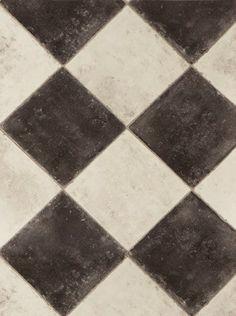 Sol vinyle Wood & Stone Black & white - Saint Maclou