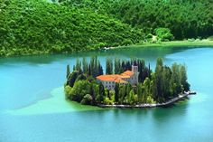 Visovac Island, Croatia on the river Krka, National Park :) Beautiful Places To Visit, Wonderful Places, Beautiful World, Beautiful Scenery, Amazing Places, Krka National Park, National Parks, Places To Travel, Places To See