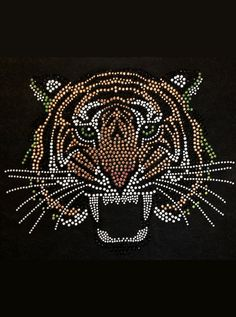 #diy Rhinestone transfer tiger school spirit. Rhinestone shirt