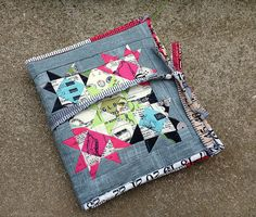 Modern travel sewing kit by SewBlossomHeart