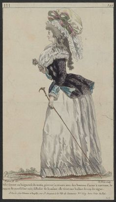 """Pierrot Jacket, 1787.  Translates to """"a clown back with buttons of steel tile."""""""