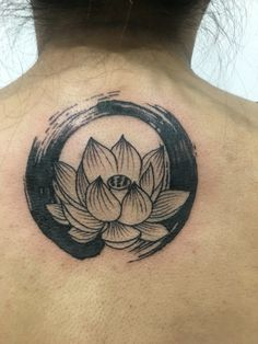 My 2nd tattoo - a lotus surrounded by an enso circle #enso #lotus #tattoo