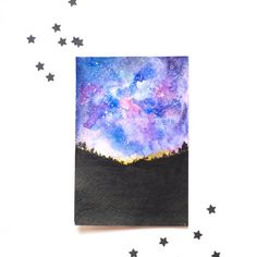 A simple and easy tutorial on how to create a starry night in watercolors.Easy to follow steps with detailed photos included.