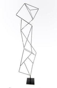 "Artist: Fonde Taylor Title: Triangulation Medium: Steel Edition: 1 /1 Size: 84""H x 24""W x 24""D Price: $3,500 Inscribed signature"