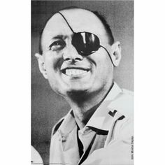 Moshe Dayan poster on Stan Rizzo's wall.