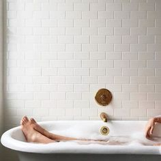 Bathtub full of bubbles. Big glass of wine. And ZERO need to shave your legs because you came to Renewal Skin Spa for Laser Hair Removal. Modern Hepburn, New Year Goals, Beautiful Bathrooms, Bathroom Inspiration, Bathroom Inspo, Bathroom Goals, Modern Bathroom, Bathroom Ideas, Decoration