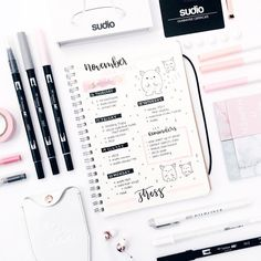 """3,162 Me gusta, 7 comentarios - stationery│notes│bujo ✨ (@study.duoo) en Instagram: """"last week's spread! // school could not be more chaotic rn but music rlly helps me destress // rn…"""""""