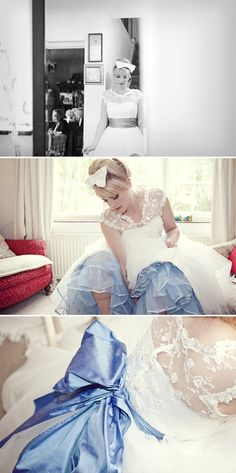 Love the blue crinoline and 60s hair and make up