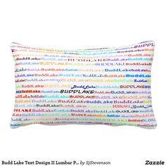 Budd Lake Text Design II Lumbar Pillow