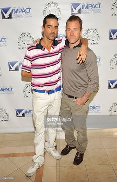 Ian Hunt and actor Scott Caan attend the 12th Annual James Caan Celebrity Golf Classic at El Caballero Country Club on May 11, 2015 in Tarzana, California.