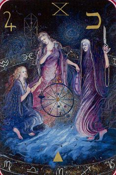 Wheel of Fortune - Spiral Tarot / triple goddess /  Sacred Geometry <3