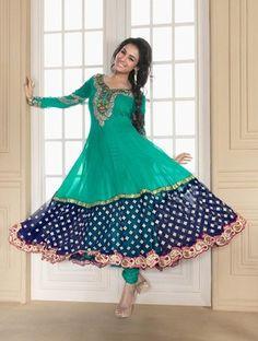 Indian Traditional Gherdar Partywear salwar kameez Anarkali suit pakistani style