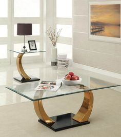Camille Rose Gold Coffee Table By Acme Furniture