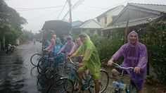 Even when raining, Hoi An is one of the most picturesque towns in Vietnam. #VietnamSchoolTours #cycling