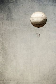 Surreal photography Balloon black and white by MagicSky on Etsy, Kč400.00