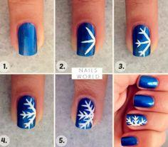 DIY: Uñas Navideñas (Copo de nieves) | Christmas Nails (Snowflake)