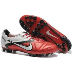 http://www.asneakers4u.com Nike CTR360 Maestri II AG Mens Artificial Grass Football Cleats In Challenge Red Black White