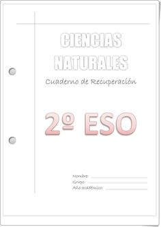 """""""Cuaderno de Recuperación de Ciencias Naturales de 2º de E.S.O."""" publicado por orientacionandujar.es."""