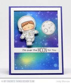 Space Explorer Stamp Set and Die-namics, Essential Cover-Up - Vertical Die-namics, Single Stitch Line Rectangle Frames Die-namics - Jody Morrow  #mftstamps