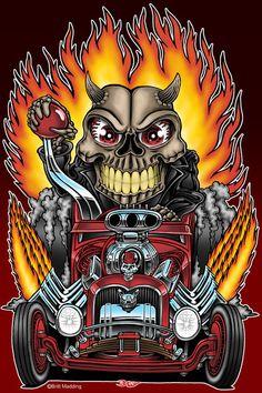Hot Rod Skull Racer by, Britt8m