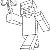Desenho De Steve Minecraft Para Colorir Desenhos Minecraft