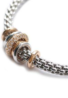 FOPE .41w Diamond & 2 Tone Gold Flex'it Bracelet