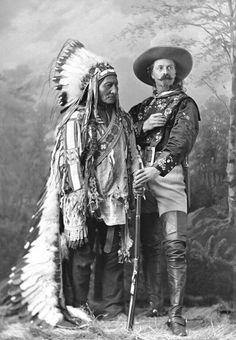 Sitting Bull and Buffalo Bill Cody, ca. 1885.