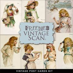 Freebies Postales Vintage Kit