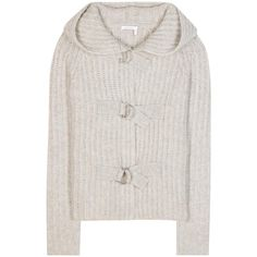 See By Chloé Mohair and Wool-Blend Sweater ($565) ❤ liked on Polyvore featuring tops, sweaters, grey, grey top, see by chloé, grey sweater, see by chloe top and gray sweater