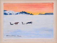 """Hugo Simberg, """"racing on the ice"""""""