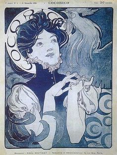 Mucha - Coco rico - I love the title and the rooster's enthusiasm
