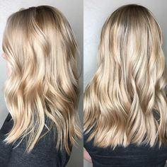 Balayage blonde, platinum blonde hair, long bob hairstyles, medium hairstyles, blonde highlights, natural blonde hair color, lived in color