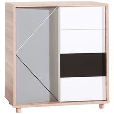 Cechy i korzyści: Drzwi szafki z gumkami do zawieszania zdjęć, rysunków. Funkcjonalne wnętrze – półki z regulowaną wysokością, 4 łatwo wysuwane szuflady. Dodaj metalowe nakładki na drzwi i szuflady – ...