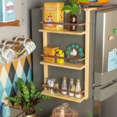 Diycore com Karla Amadori ( Diy Kitchen Storage, Home Decor Kitchen, Diy Storage, Spice Storage, Space Kitchen, Paper Storage, Diy Para A Casa, Diy Casa, Diy Wood Projects