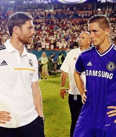 Yum!  Xabi Alonso (Real Madrid) and Fernando Torres (Chelsea)